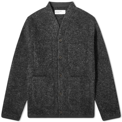 Universal Works Universal Works Wool Fleece Cardigan Charcoal