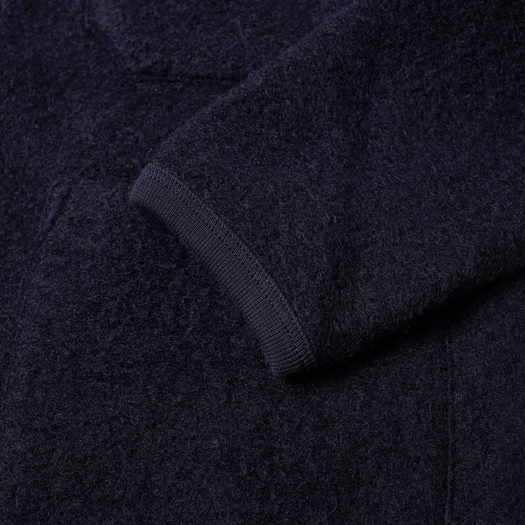 Universal Works Universal Works Wool Fleece Cardigan Navy