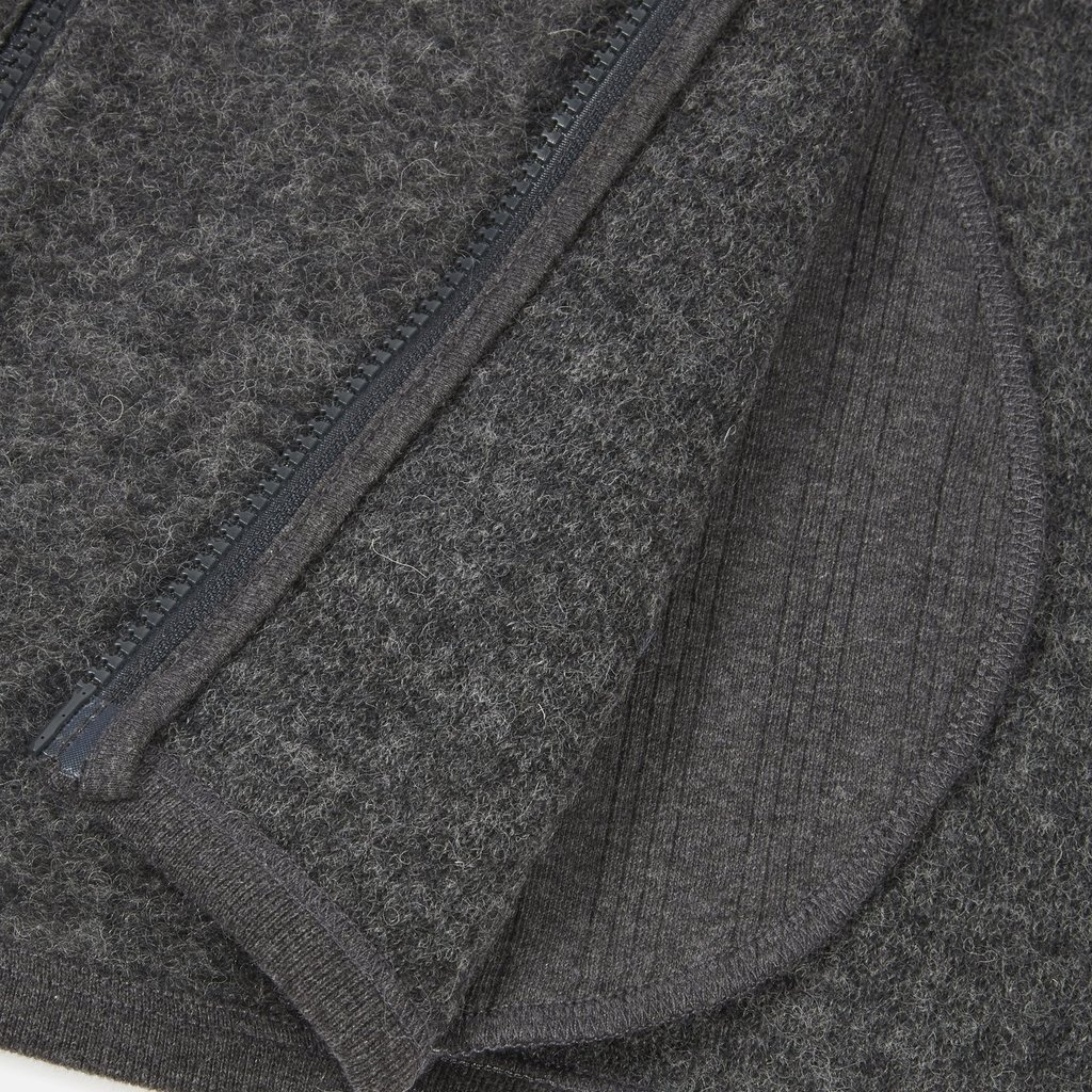 Universal Works Universal Works Wool Fleece Surfer Hoodie Charcoal