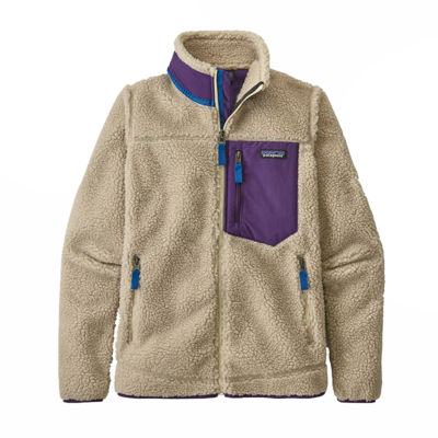 Patagonia Patagonia W's Classic Retro-X Jacket Natural with Purple
