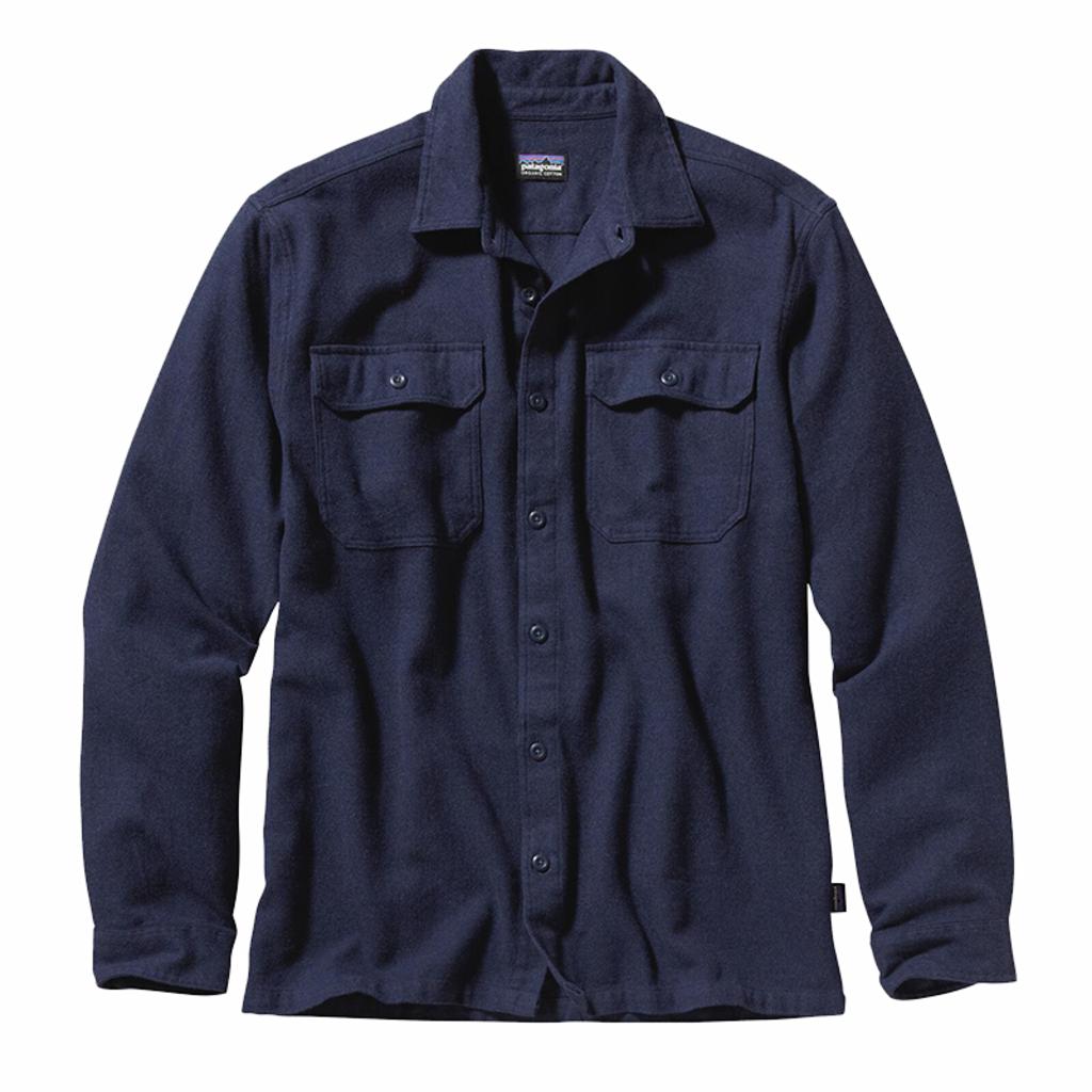 Patagonia Patagonia M's L/S Fjord Flannel Shirt Navy Blue