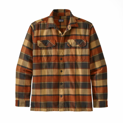 Patagonia Patagonia M's L/S Fjord Flannel Shirt Plots: Burnished Red