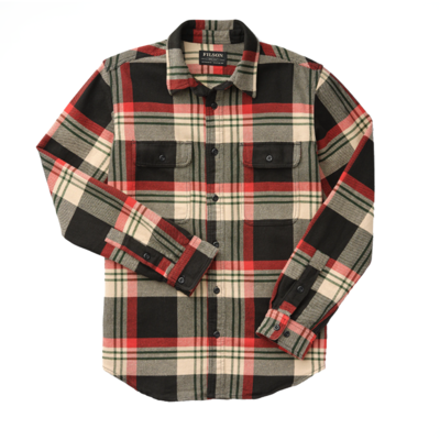 Filson Filson Vintage Flannel Work Shirt Black Red Cream