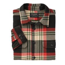 Filson Filson Vintage Flannel Work Shirt Black Red Cream
