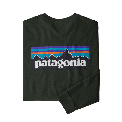 Patagonia Patagonia M's L/S P-6 Logo Responsibili-Tee Kelp Frost
