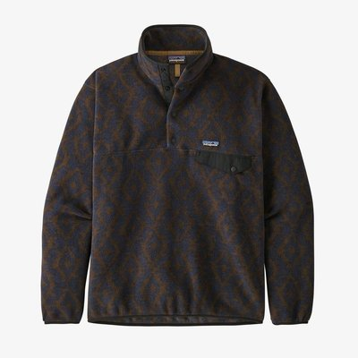 Patagonia Patagonia M's Lightweight Synch Snap-T Pullover Field Geo / New Navy