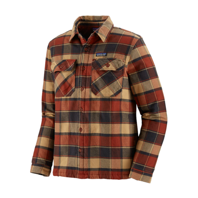 Patagonia Patagonia M's insulated Fjord Flannel Jacket Plots: Burnised Red