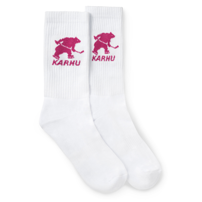 Karhu Karhu Hockey Bear Sock White / Fucsia