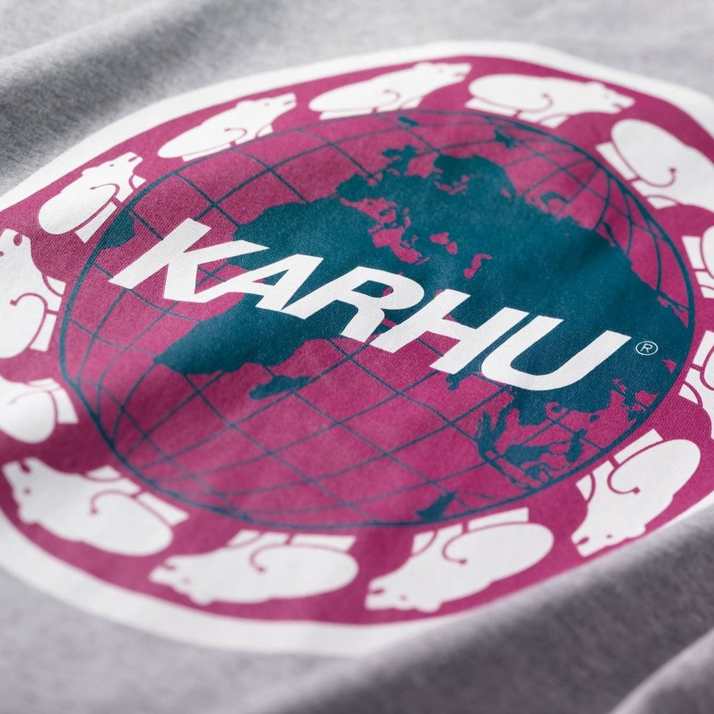 Karhu Karhu Worldwide T-Shirt Heather Grey / White