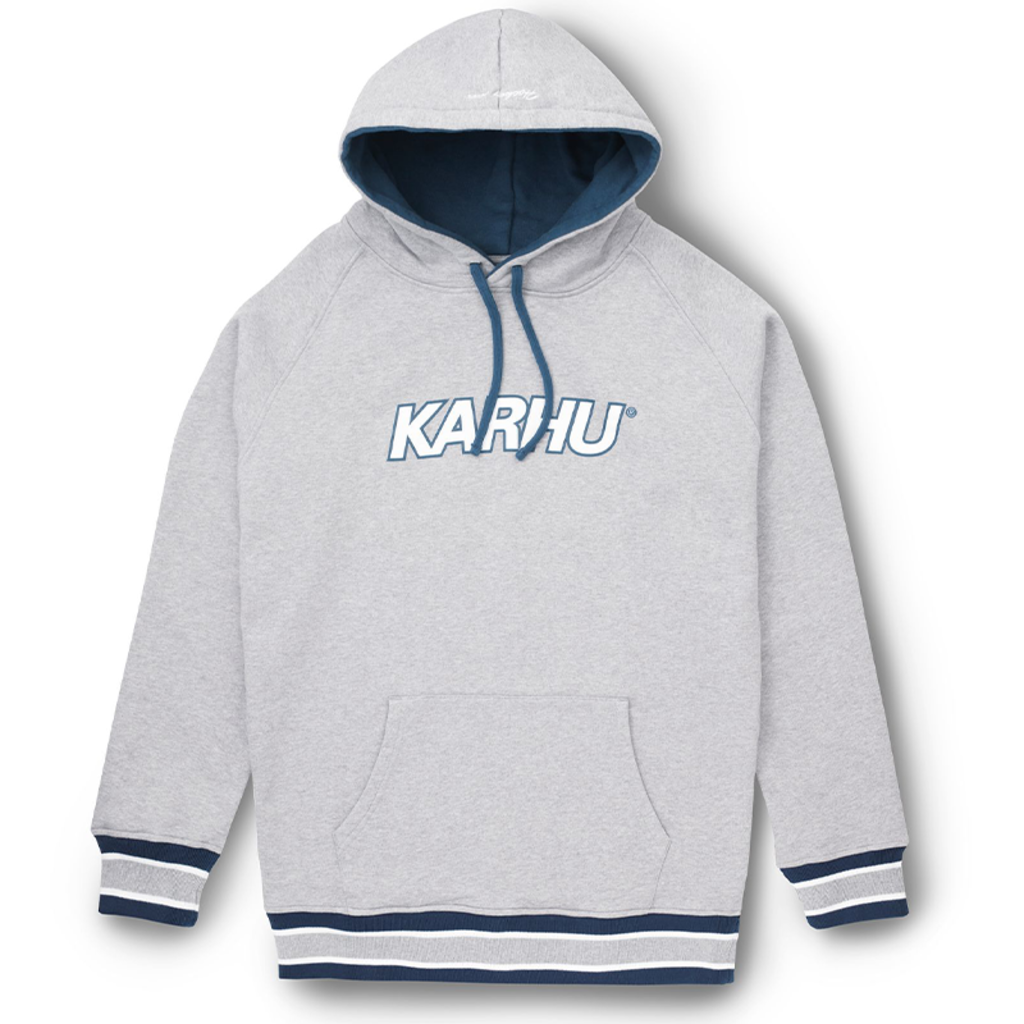 Karhu Karhu Contrast Raglan Hoodie Heather Grey / Blue Wing Teal