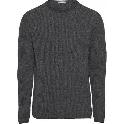 KnowledgeCotton Apparel Knowledge Cotton Apparel Recycled Wool Rib Raglan Knit Grey