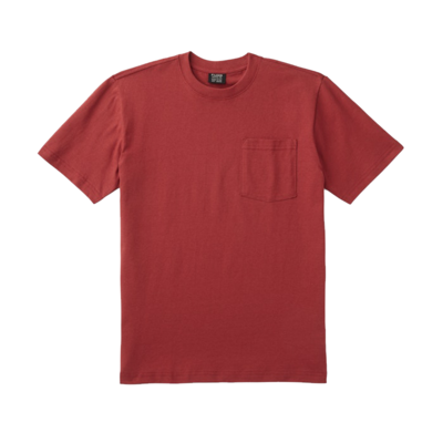 Filson Filson S/S Outfitter Solid One Pocket T-Shirt Dark Red
