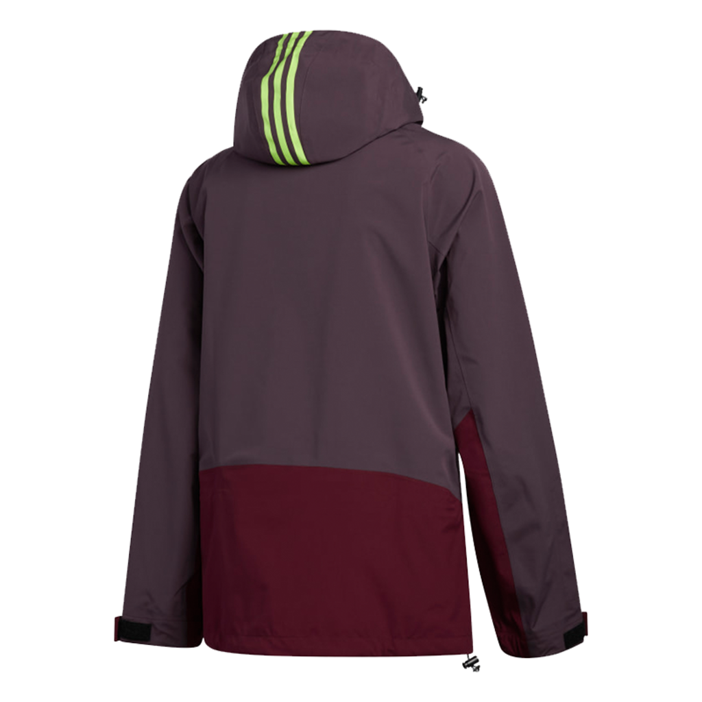 adidas adidas 3 Layer 20K Jacket Mineral Red / Maroon / Signal Green