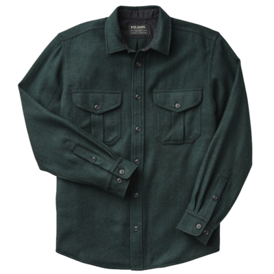 Filson Filson Northwest Wool Shirt Black Green Twill