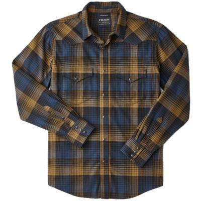 Filson Filson Western Flannel Shirt Blue / Black / Ochre