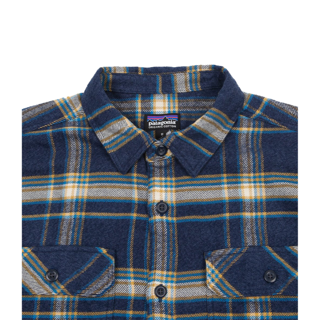 Patagonia Patagonia M's L/S Fjord Flannel Shirt Activist Navy Blue