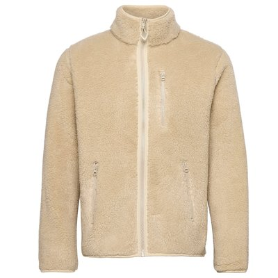 KnowledgeCotton Apparel KnowledgeCotton Apparel Elm Zip Teddy Fleece Sweater Tuffet