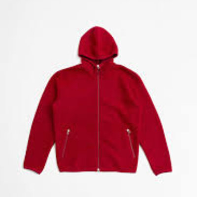Universal Works Universal Works Wool Fleece Surfer Hoodie Red