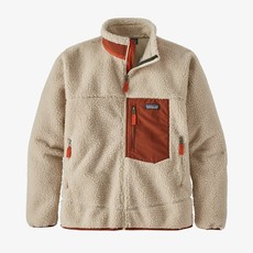 Patagonia Patagonia Mens Classic Retro-X Jacket Natural with Barn Red