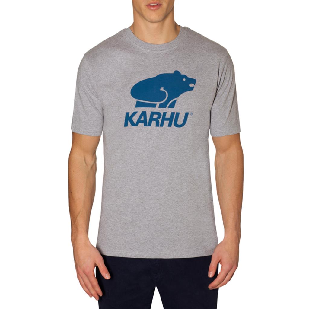 Karhu Karhu Basic Logo T-Shirt Heather Grey / Navy