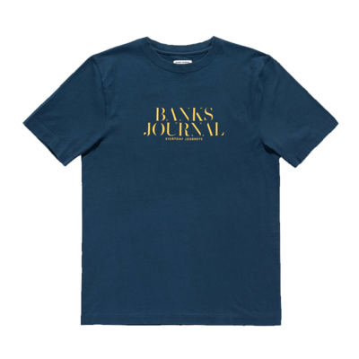 Banks Journal Banks Journal Heading Trader Tee Insignia Blue
