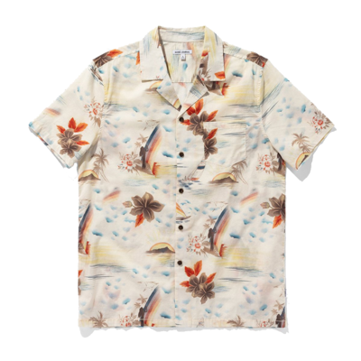 Banks Journal Banks Journal Rainbow S/S Shirt Blue Fog