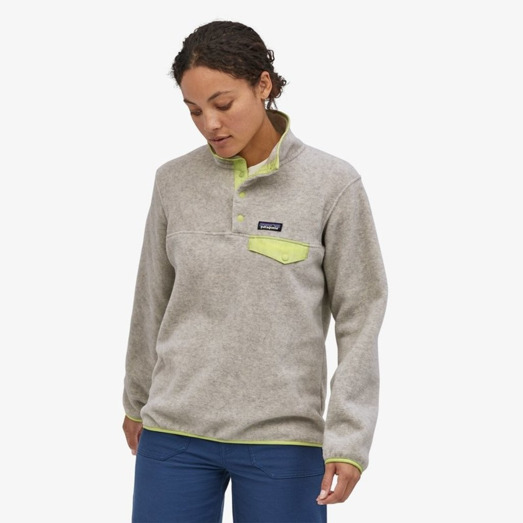 Patagonia Patagonia Womens LW Synch Snap-T P/O Oatmeal Heather/Jellyfish Yellow