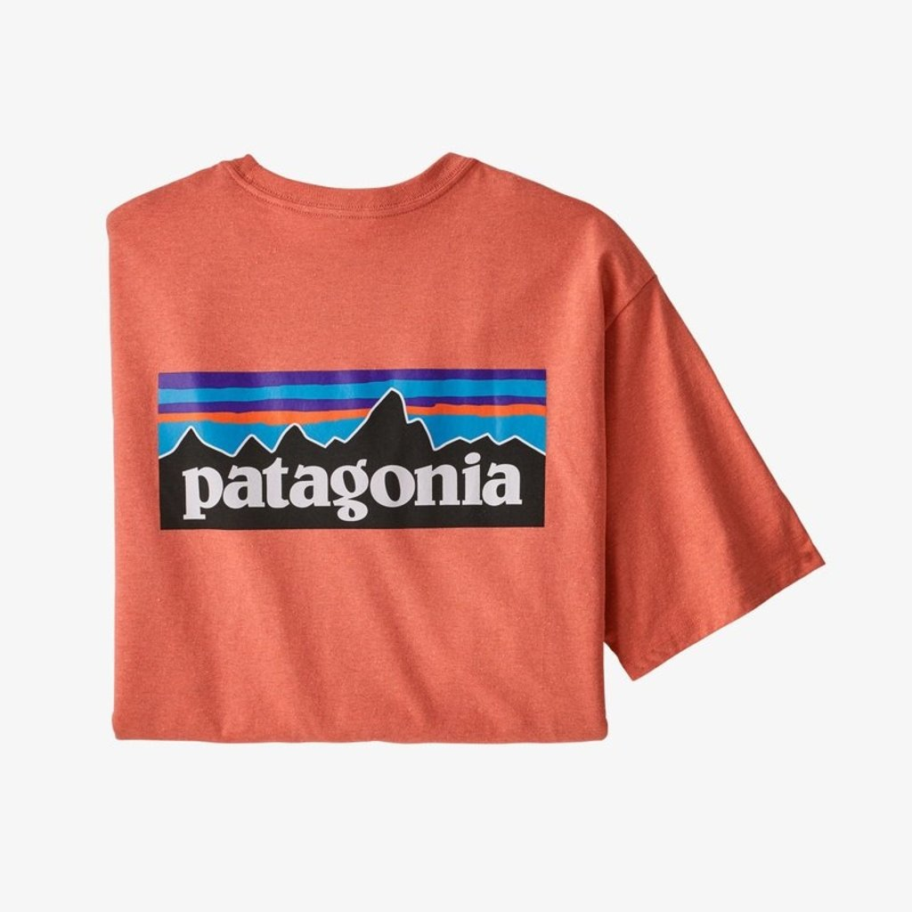 Patagonia Patagonia M's P-6 Logo Responsibili-Tee Coho Coral