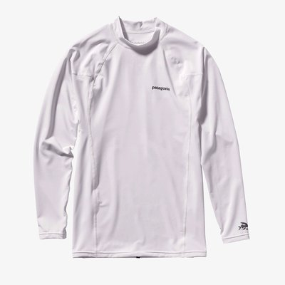 Patagonia Patagonia Mens Longsleeve RØ Top Black with White with Feather Grey