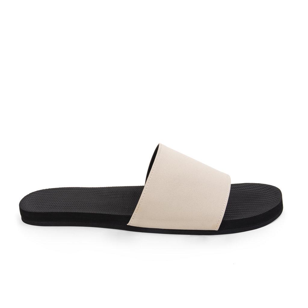 Indosole Indosole Men's ESSNTLS Slides Black / Sea Salt