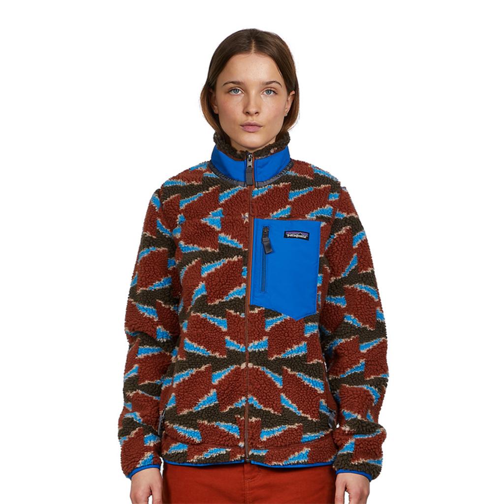 Patagonia Patagonia Womens Classic Retro-X Jacket Take Root Burnished Red