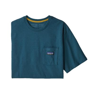 Patagonia Patagonia Mens P-6 Label Pocket Responsibili-Tee Abalon Blue