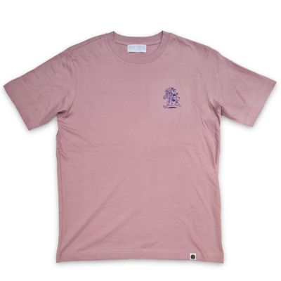 Behind The Pines Behind the Pines x Sjefietshe Organic Tee Faded Purple