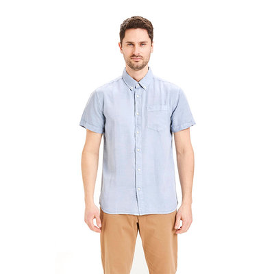 Knowledge Cotton Apparel KnowledgeCotton Apparel Larch Tencel SS Shirts Asley Blue