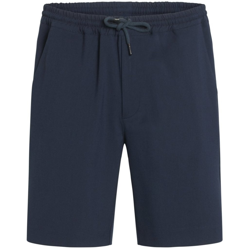 KnowledgeCotton Apparel KnowledgeCotton Apparel FIG Loose EcoVero Club Shorts Total Eclipse