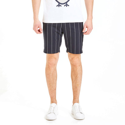 KnowledgeCotton Apparel Chuck Pin Striped Shorts Total Eclipse