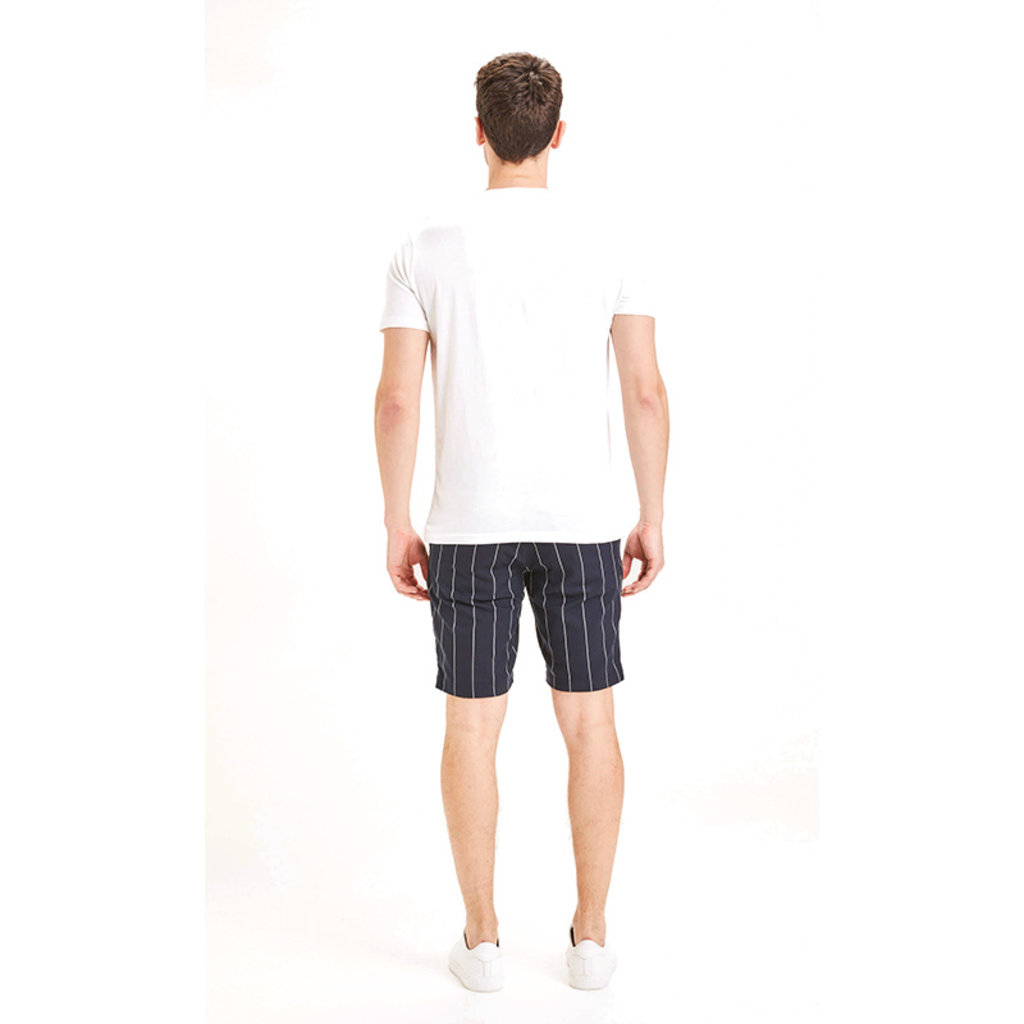 KnowledgeCotton Apparel KnowledgeCotton Apparel Chuck Pin Striped Shorts Total Eclipse