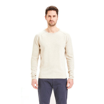 KnowledgeCotton Apparel KnowledgeCotton Apparel Forrest Roll Edge Stable Knit Light Feather Grey
