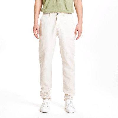 KnowledgeCotton Apparel KnowledgeCotton Apparel Chuck Light Linen Pants Light Feather Grey