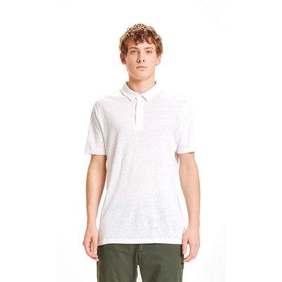 KnowledgeCotton Apparel KnowledgeCotton Apparel Rowan Linen Polo Bright White