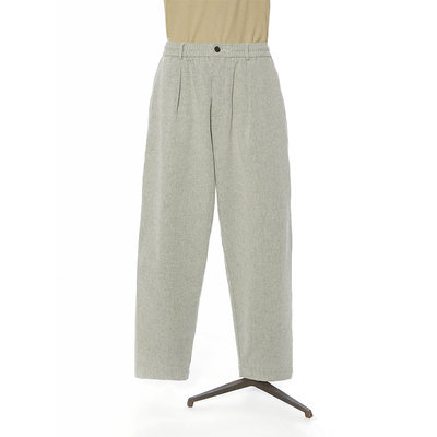 Universal Works Universal Works Pleated Track Pant Recycled Cotton Ecru
