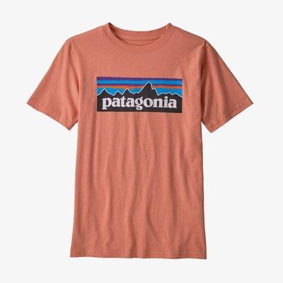 Patagonia Patagonia Kids P-6 Logo Organic T-shirt Mellow Melon