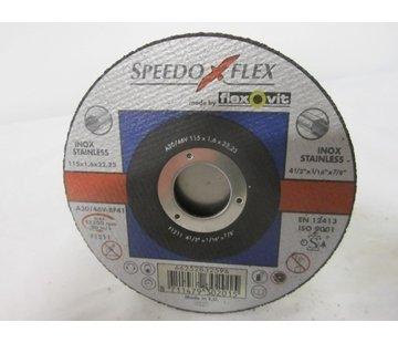 Flexovit Doorslijpschijf 115x1,6x22 mm (verpakt per 25 stuks) Art.2114254