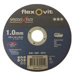 Flexovit Flexovit doorslijpschijf voor staal en RVS 125x1x22 mm (verpakkings eenheid 25 stuks)