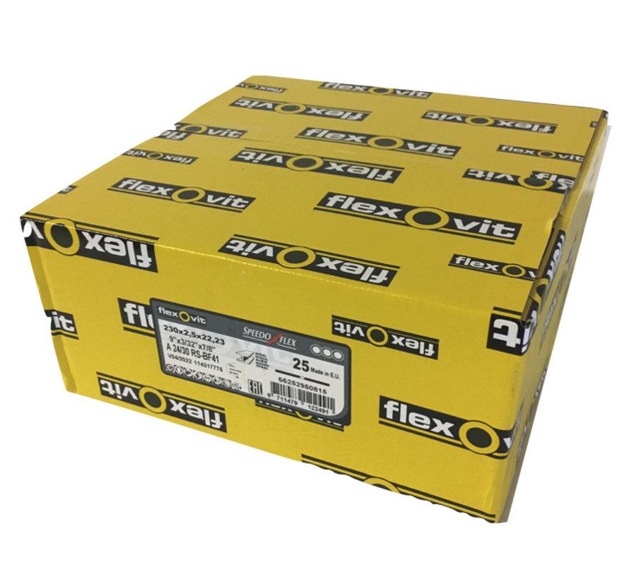Flexovit doorslijpschijf voor staal en RVS 230x2,5x22 mm (verpakkings eenheid 25 stuks)