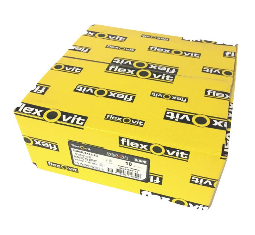 230x6,4x22 A24/30 Q-BF27 flexovit afbraamschijven voor staal en RVS, type speedoflex  (verpakkingseenheid 10 stuks) - Copy