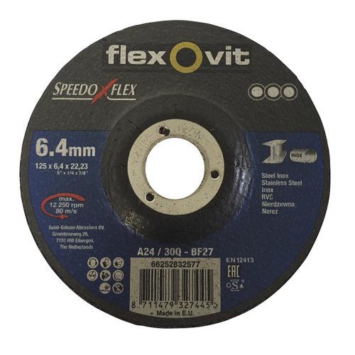 Flexovit Flexovit afbraamschijf voor staal en RVS 125x6,4x22 mm (verpakkingseenheid 10 stuks)