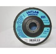 Sait Vlak- lamellenschijf 115 mm, K.60, verpakt per 10 stuks. Art.S7000