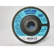 Sait Vlak- lamellenschijf 115 mm, K.80, verpakt per 10 stuks. Art.S7002