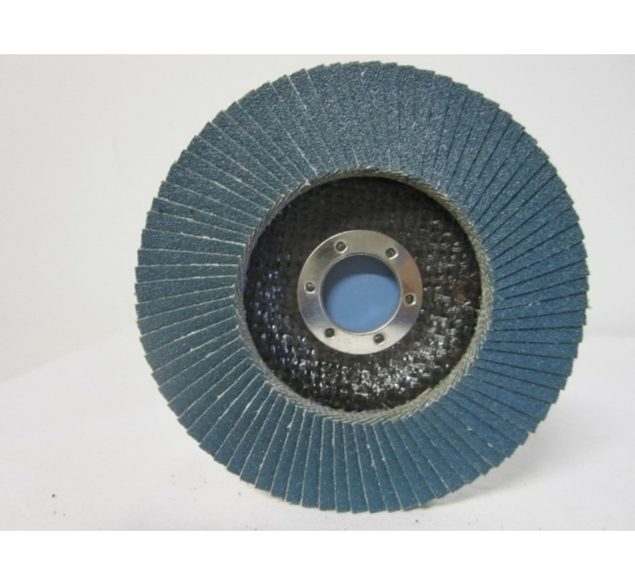 Vlak- lamellenschijf 125 mm, K.80, Nr.S8616 verpakt per 10 stuks